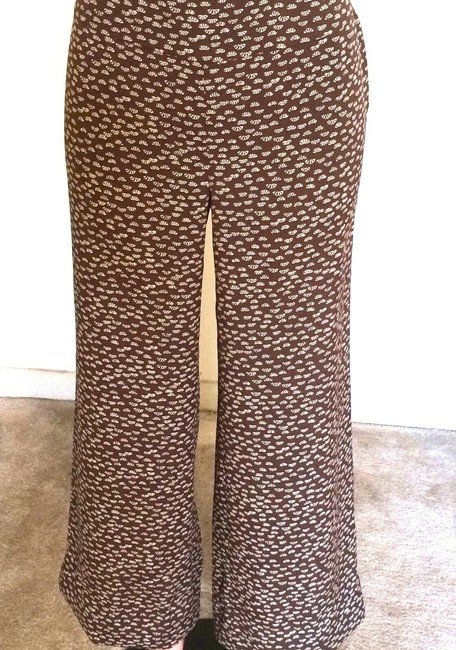 Ann Taylor LOFT Relaxed Pants Brown & Beige Image 4