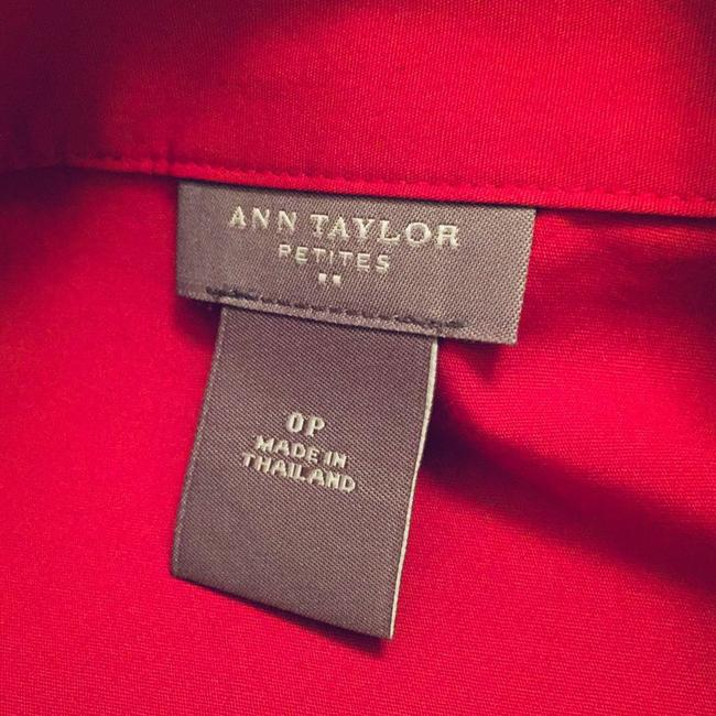 Ann Taylor Button Down Shirt red Image 2