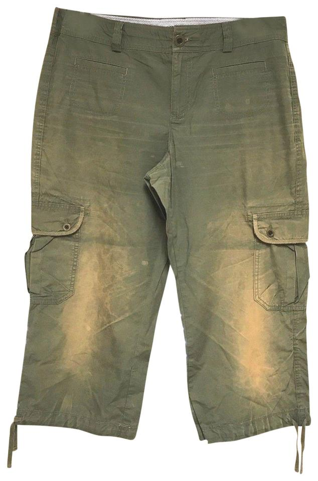 abd7e502 Tommy Hilfiger Dark Green Distressed Cotton Pants Size 12 (L, 32, 33 ...