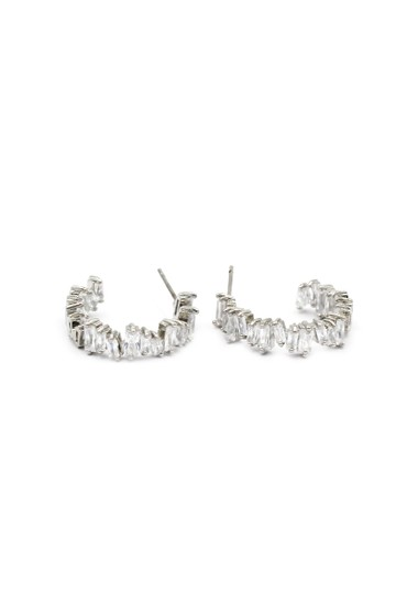 Ocean Fashion Silver Fashion sparkling crystal earrings Image 0