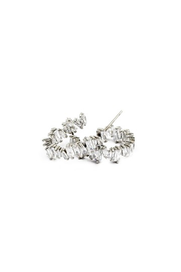 Ocean Fashion Silver Fashion sparkling crystal earrings Image 1