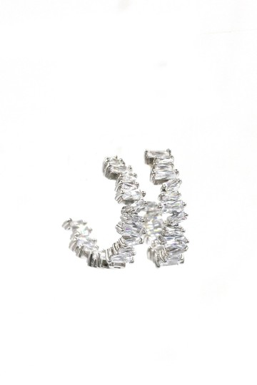 Ocean Fashion Silver Fashion sparkling crystal earrings Image 2