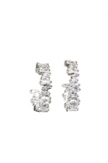 Ocean Fashion Silver Fashion sparkling crystal earrings Image 3