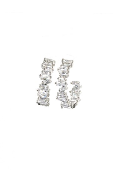 Ocean Fashion Silver Fashion sparkling crystal earrings Image 5
