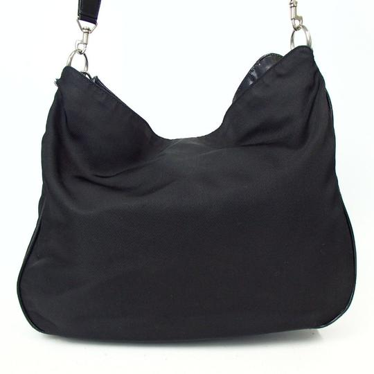 Gucci Bamboo Nylon Hobo Shoulder Bag Image 1