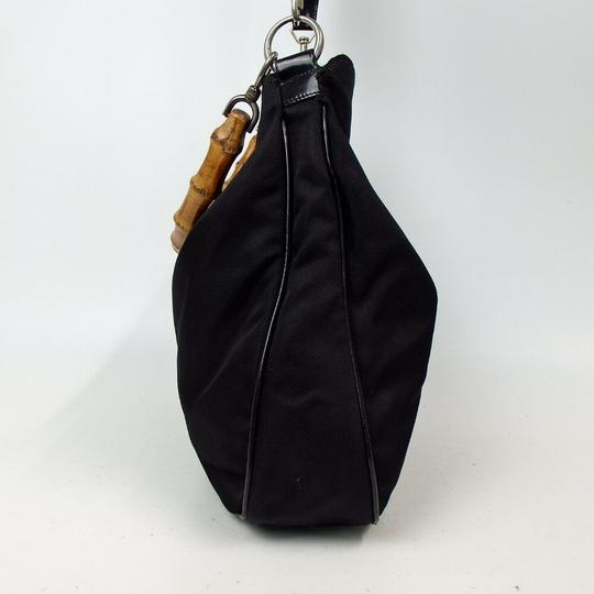 Gucci Bamboo Nylon Hobo Shoulder Bag Image 2