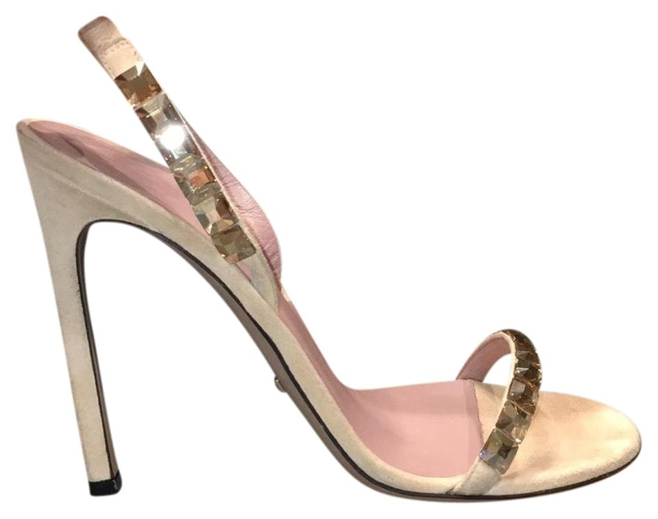 72a3e635c Gucci Nude Mallory Stilettos Jeweled with Swarovski Crystals Formal Shoes.  Size: EU 37.5 ...