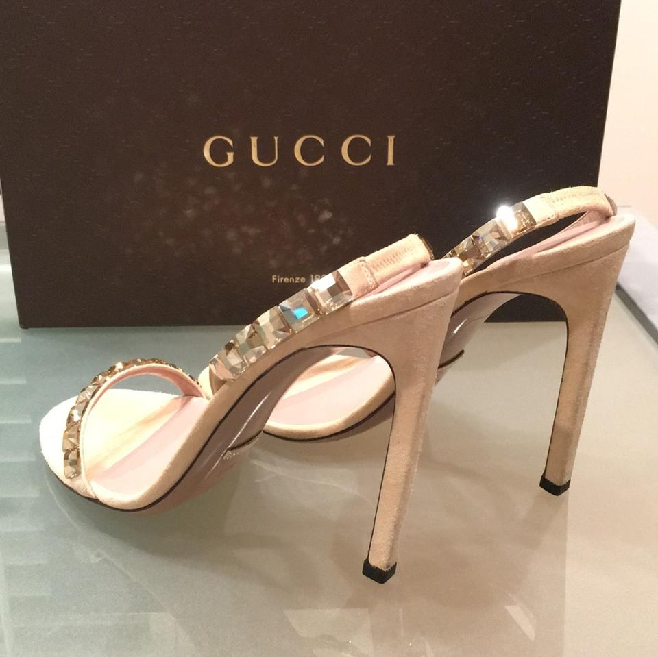 312ea1fc7 Gucci Nude Mallory Stilettos Jeweled with Swarovski Crystals Formal ...
