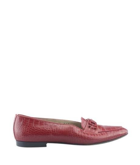 Salvatore Ferragamo Loafers Crocodile Italy Pre-owned Red Flats Image 2