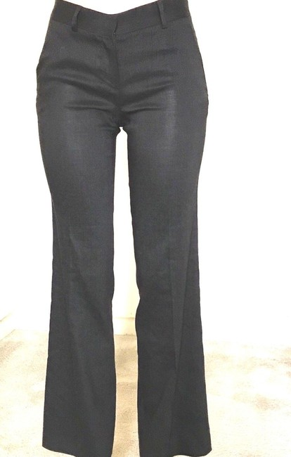 Theory Wide Leg Pants Brown Image 1