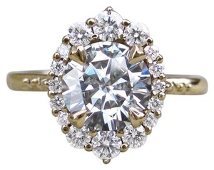 Eve St. Claire 14k Gold diamond halo engagement ring