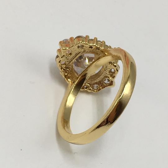 Eve St. Claire 14k Gold diamond halo engagement ring Image 10