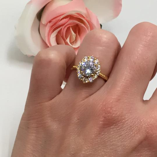 Eve St. Claire 14k Gold diamond halo engagement ring Image 2