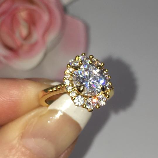 Eve St. Claire 14k Gold diamond halo engagement ring Image 6