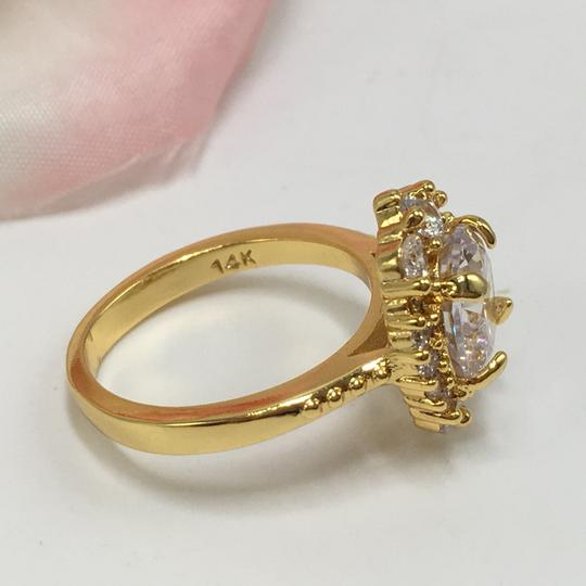 Eve St. Claire 14k Gold diamond halo engagement ring Image 7