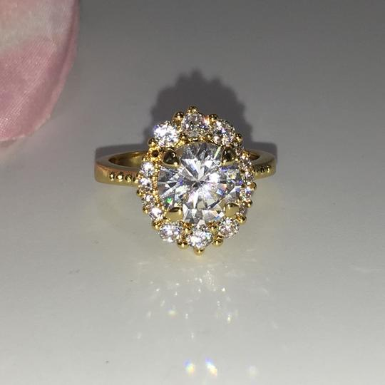 Eve St. Claire 14k Gold diamond halo engagement ring Image 8