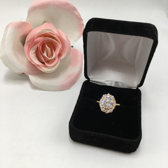 Eve St. Claire 14k Gold diamond halo engagement ring Image 9