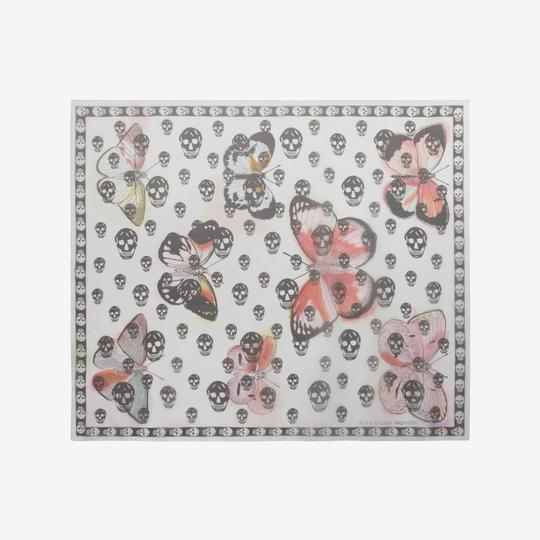 Alexander McQueen ALEXANDER MCQUEEN SKULL ON BUTTERFLY SILK SCARF Sold Out Image 1
