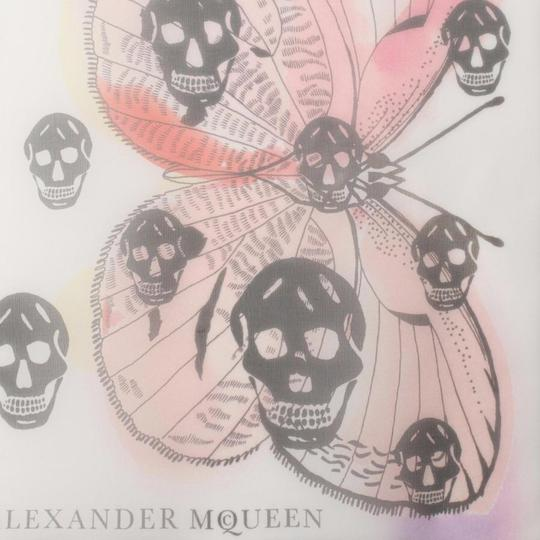 Alexander McQueen ALEXANDER MCQUEEN SKULL ON BUTTERFLY SILK SCARF Sold Out Image 3