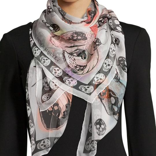 Alexander McQueen ALEXANDER MCQUEEN SKULL ON BUTTERFLY SILK SCARF Sold Out Image 5