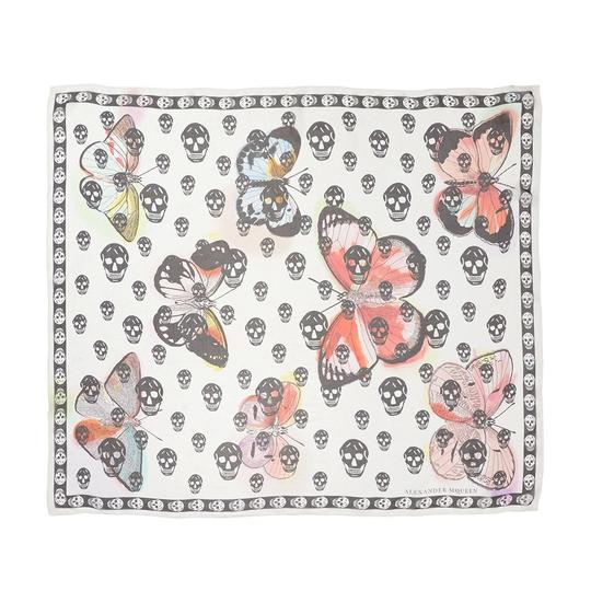 Alexander McQueen ALEXANDER MCQUEEN SKULL ON BUTTERFLY SILK SCARF Sold Out Image 6