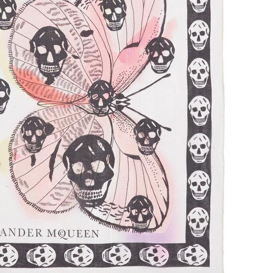 Alexander McQueen ALEXANDER MCQUEEN SKULL ON BUTTERFLY SILK SCARF Sold Out Image 7