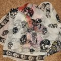 Alexander McQueen ALEXANDER MCQUEEN SKULL ON BUTTERFLY SILK SCARF Sold Out Image 9