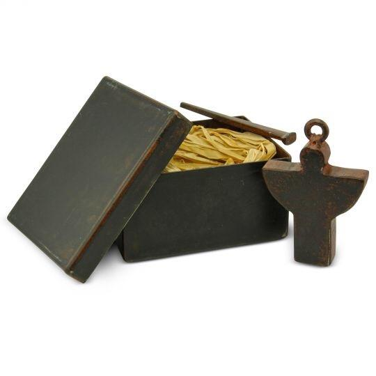 Brown Guardian Angel Blessing Box Decoration Image 1