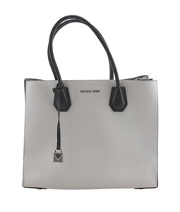 Michael Kors Leather Silver-tone Adult Tote in White