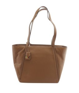 Michael Kors Leather Tags Dustbag Gold-tone Tote in Brown
