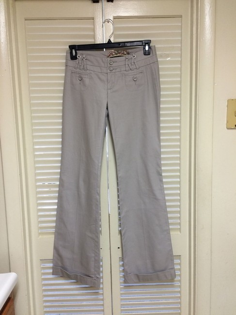 Daughter of The Liberation Wide Leg Pants Light Gray Image 2