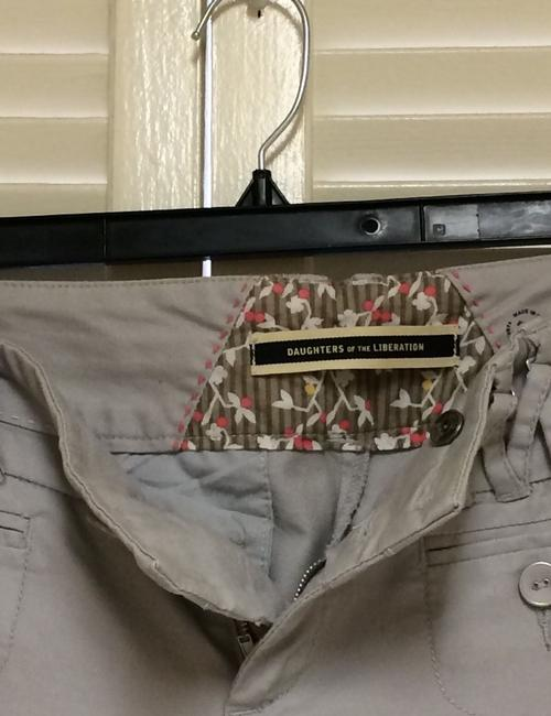 Daughter of The Liberation Wide Leg Pants Light Gray Image 4
