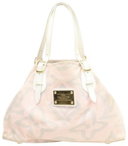 Louis Vuitton Fleur Sprouse Grafitti Limited Rare Tote in Pink