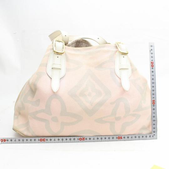 Louis Vuitton Fleur Sprouse Grafitti Limited Rare Tote in Pink Image 5