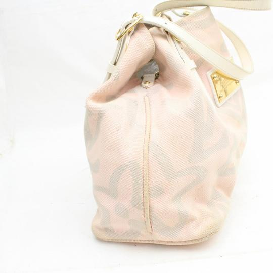Louis Vuitton Fleur Sprouse Grafitti Limited Rare Tote in Pink Image 7