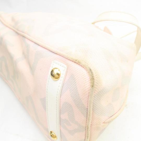 Louis Vuitton Fleur Sprouse Grafitti Limited Rare Tote in Pink Image 8
