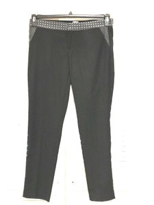Ecru Skinny Pants Black