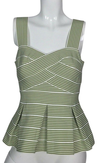 Preload https://img-static.tradesy.com/item/24729077/anthropologie-multi-color-peplum-stripes-white-green-sleeveless-women-tank-topcami-size-4-s-0-1-650-650.jpg