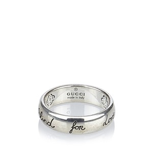 Gucci Gucci Silver Blind For Love Ring Italy w Dust Bag Box SMALL