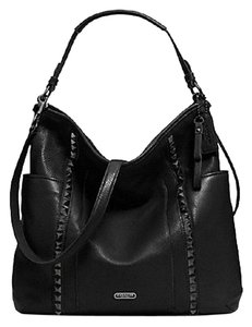 Coach Xl Pebbled Leather Crossbody Hobo Bag