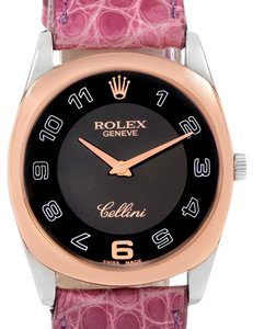 Rolex Rolex Cellini Danaos White Rose Gold Pink Strap Watch 4233 Box Papers