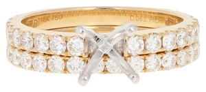 Other NEW Semi-Mount Engagement Ring & Wedding Band - 18k Gold E1804