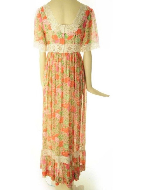 Pink and Yellow Maxi Dress by Lilly Pulitzer Vintage Rare Flower Tropical Hawaiian Image 3
