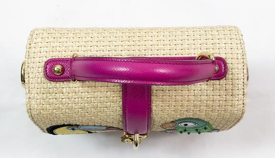 Dolce&Gabbana Limited Edition Box Runway Parrot Satchel in BEIGE & PINK Image 2