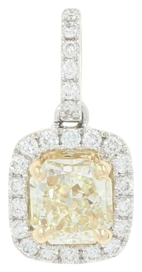 Preload https://img-static.tradesy.com/item/24729408/white-gold-new-yellow-and-diamond-halo-pendant-14k-radiant-u8870-0-1-540-540.jpg
