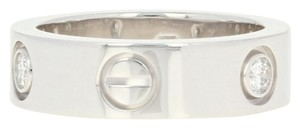 Cartier Cartier Love Ring - 18k White Gold Band Size 5 1/4 Round Cut U9012