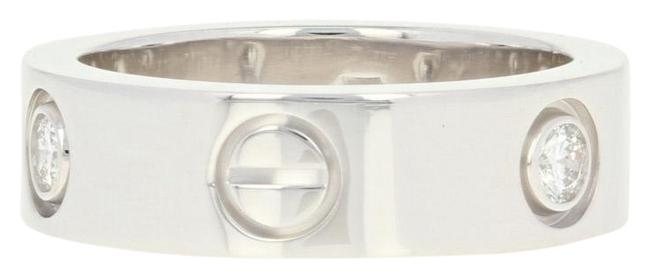 Item - White Gold Love - 18k Band Size 5 1/4 Round Cut Ring
