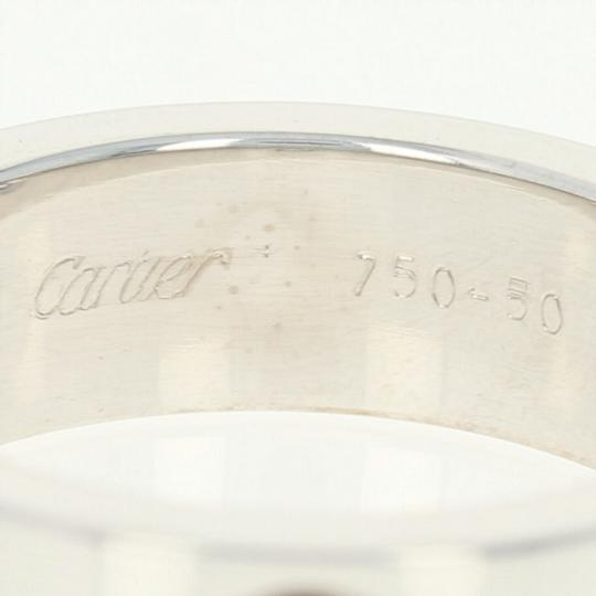 Cartier Cartier Love Ring - 18k White Gold Band Size 5 1/4 Round Cut U9012 Image 2