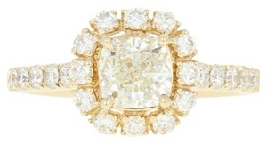 Other NEW Diamond Halo Engagement Ring - 14k Yellow Gold GIA Cushion U9014