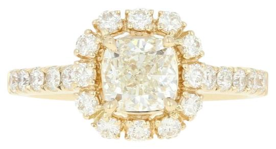 Preload https://img-static.tradesy.com/item/24729430/yellow-gold-new-diamond-halo-engagement-14k-gia-cushion-u9014-ring-0-1-540-540.jpg